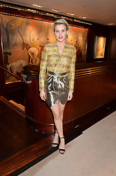 ASHLEY ROBERTS at a party to celebrate the publication of Front Roe by Louise Roe held at Ralph Lauren, 1 New Bond Street, London on 1st April 2015.