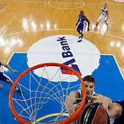 Anadolu Efes's Milko Bjelica (R) during their Turkish Airlines Euroleague Basketball Group A Round 3 match Anadolu Efes between Zalgiris Kaunas at Abdi ipekci arena in Istanbul, Turkey, Thursday, October 30, 2014. Photo by Aykut AKICI/TURKPIX