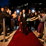 """VIP On The Red Carpet, shot for the """"Living the Life"""", advertising campaign for Seisware. <br /> Client: Seisware<br /> Agency: SAW Communications<br /> Art Director: Jonathan Barnes<br /> Stylist: Judith Aldama<br /> Hair & Makeup: Teslin Ward<br /> Photographer: Brett Gilmour"""
