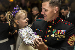 Apr 28, 2017 - Camp Pendleton, California, U.S. - Dad and Daughter Dance. Marine Corps Staff Sgt. CHRISTOPHER M. BESS dances with his 2-year-old daughter during the 11th annual father-daughter dance at Marine Corps Base Camp Pendleton, Calif., April. 28, 2017. Marine Corps photo by Lance Cpl. Michael LaFontaine Jr. (Credit Image: ? Michael LaFontaine Jr./Marines/DoD via ZUMA Wire/ZUMAPRESS.com)