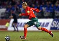 Fotball<br /> Privatlandskamp<br /> Hellas v Bulgaria<br /> 18. februar 2004<br /> Foto: Digitalsport<br /> Norway Only<br /> <br /> STILIAN PETROV  (BUL) *** Local Caption *** 40001060