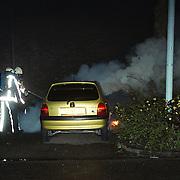 Brand Opeldealer Fred Janssen Ambachtsweg Huizen, autobrand