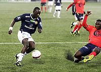Fotball , 22. april  2012 , Tippeligaen , Eliteserien<br /> Strømsgodset - Viking <br /> <br /> Alfred sankoh ,SIF<br /> King Osei Gyan , Viking