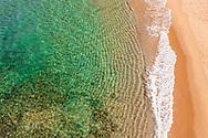 Aerial view of Shelly Beach, Caloundra, Sunshine Coast, Queensland, Australia