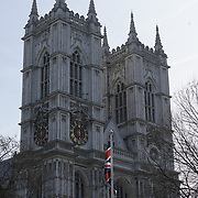 London, 13th March 2017, UK Weather: Spring sunshine Westminster Abbey in London,UK. by See Li