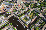 Nederland, Noord-Holland, Amsterdam, 14-06-2012; Amstel met museum de Hermitage in gebouw Amstelhof, tussen Nieuwe Herengracht en Nieuwe Keizersgracht (re). Linksboven Stopera (Muziektheater en Stadhuis) aan het Waterlooplein. .View on the city hall/opera house at the river Amstel (top left), and the Amsterdam Hermitage museum, Amsterdam center..luchtfoto (toeslag), aerial photo (additional fee required).foto/photo Siebe Swart