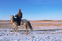 Mongolie. Province d'Arkhangai en hiver. // Mongolia. Arkhangai province in winter.