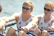 Beijing, CHINA, GBR JM4X,  Bow Jon PRESTO, Andrew FORD, Phill CLAPP and Chris CLARKE, during the  2007. FISA Junior World Rowing Championships Shunyi Water Sports Complex. Wed. 08.08.2007  [Photo, Peter Spurrier/Intersport-images]..... , Rowing Course, Shun Yi Water Complex, Beijing, CHINA,