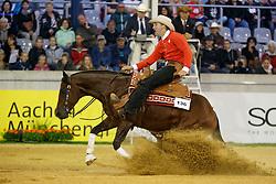 Schmutz Daniel, (SUI), BH Cielo Dry<br /> Reining individual<br /> European Championships - Aachen 2015<br /> © Hippo Foto - Dirk Caremans<br /> 16/08/15