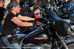 Riding in the Weirs Beach area during Laconia Motorcycle Week. Laconia, NH, USA. June 13, 2015.  Photography ©2015 Michael Lichter.
