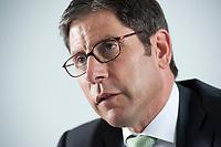 12 MAY 2010, BERLIN/GERMANY:<br /> Dr. Nedim Cen, Vorstandsvorsitzender Q-Cells, waehrend einem Interview, Buero von QCI<br /> IMAGE: 20100512-01-026