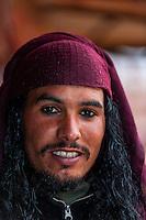 A Bedouin man, Petra archaeological site (a UNESCO World Heritage site), Jordan.