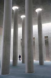 Modern crematorium at Baumschulenweg cemetery in Treptow  Berlin Germany; Architect Axel Schultes