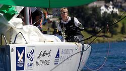 Ian Williams, GBR, Team GAC Pindar. joint overnight leader with a score of 4-1 at the St Moritz Match Race 2010. World Match Racing Tour. St Moritz, Switzerland. 1st September 2010. Photo: Ian Roman/WMRT.