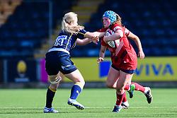 Abbie Fleming of Bristol Ladies is tackled by \Charlotte Browning of Worcester Valkyries  - Mandatory by-line: Craig Thomas/JMP - 23/09/2017 - RUGBY - Sixways Stadium - Worcester, England - Worcester Valkyries v Bristol Ladies - Tyrrells Premier 15s