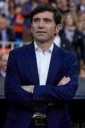 April 18, 2018 - Valencia, Valencia, Spain - Marcelino Garcia Toral head coach of Valencia CF  looks on prior to the La Liga game between Valencia CF and Getafe CF at Mestalla on April 18, 2018 in Valencia, Spain  (Credit Image: © David Aliaga/NurPhoto via ZUMA Press)