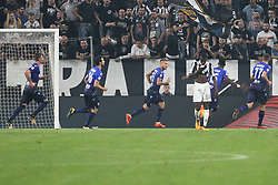 October 14, 2017 - Turin, Piedmont, Italy - Ciro IMMOBILE (SS Lazio)  celebrates after scoring during the Serie A football match between Juventus FC and SS Lazio at Olympic Allianz Stadium on 14 October, 2017 in Turin, Italy. (Credit Image: © Massimiliano Ferraro/NurPhoto via ZUMA Press)