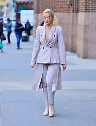 Rita Ora is effortlessly chic in matching pant suit at Z100. 17 Jan 2019 Pictured: Rita Ora. Photo credit: MEGA TheMegaAgency.com +1 888 505 6342
