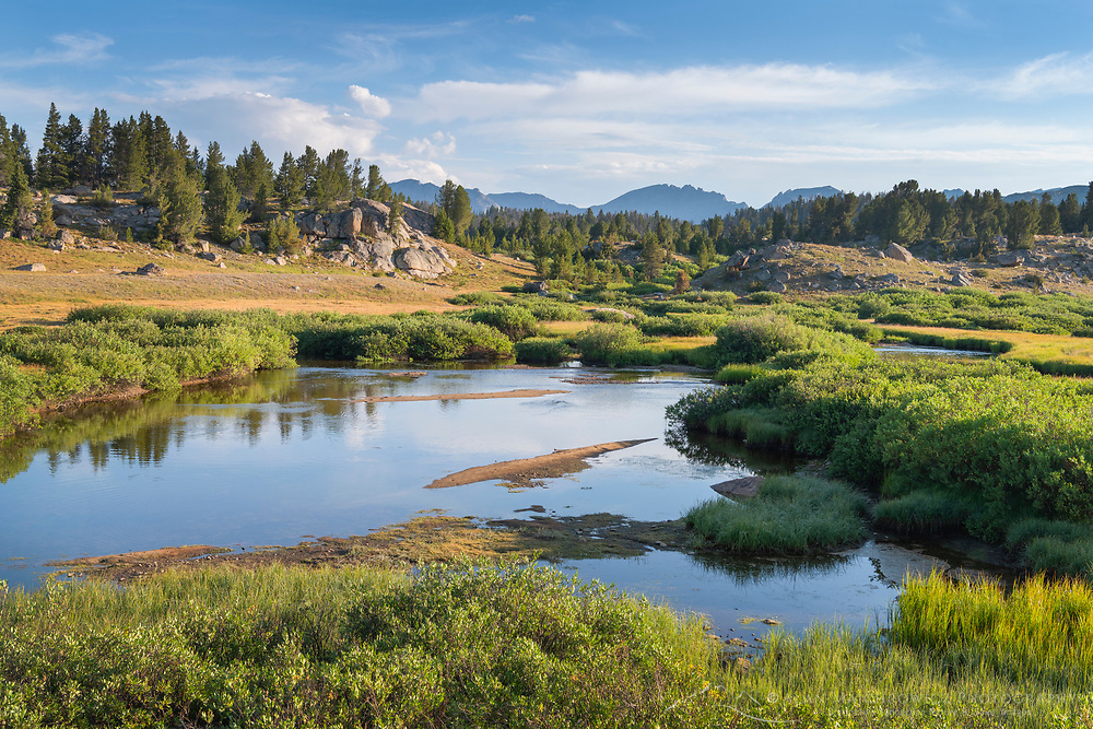 Boulder River Bridger Wilderness Wind River Range Wyoming