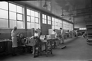 17/01/1963<br /> 01/17/1963<br /> 17 January 1963<br /> Interiors of Liam Devlin and Sons Ltd. Dublin Sweet Factory at Cork Street, Dublin. Image shows machinery for packaging sweet-cigarettes.