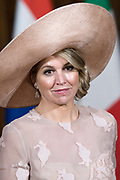 Staatsbezoek van Koning en Koningin aan de Republiek Italie - dag 1 - Rome /// State visit of King and Queen to the Republic of Italy - Day 1 - Rome<br /> <br /> Op de foto / On the photo: Koningin Maxima  bij het Palazzo del Quirinale // Queen Maxima at the Palazzo del Quirinale