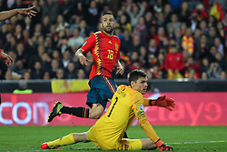 March 23, 2019 - Valencia, Valencia, Spain - Jordi Alba of Spain in action during European Qualifiers championship, , football match between Spain and Norway, March 23th, in Mestalla Stadium in Valencia, Spain. (Credit Image: © AFP7 via ZUMA Wire)