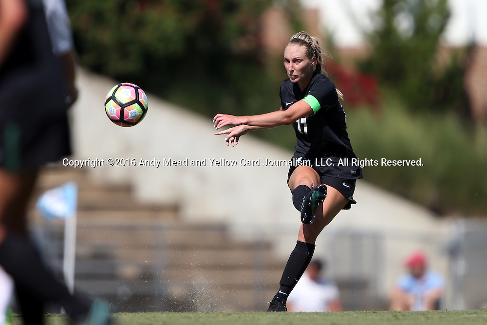 21 August 2016: Charlotte's Kaitlin Walker. The University of North Carolina Tar Heels hosted the University of North Carolina Charlotte 49ers in a 2016 NCAA Division I Women's Soccer match. UNC won the game 3-0