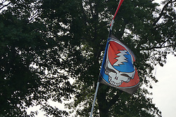 Grateful Dead Flag Flying over a Camp Ground at the Gathering of the Vibes 2010, Seaside Park, Bridgeport, Connecticut