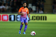 Gael Clichy of Manchester city in action. EFL Cup. 3rd round match, Swansea city v Manchester city at the Liberty Stadium in Swansea, South Wales on Wednesday 21st September 2016.<br /> pic by  Andrew Orchard, Andrew Orchard sports photography.