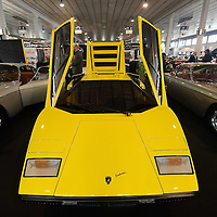 PADOVA, ITALY - OCTOBER 27:  A vintage Lamborghini car is seenon display on October 27, 2011 in Padova, Italy. The Vintage and Classic Cars Exhibition of Padova, running from the October 28 - 30, is the most important European trade show for vintage cars and motorbikes, showcasing over 1600 vehicles.