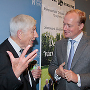 """NLD/Den Haag/20110912 - Boekpresentatie Annemarie Gualtherie van Weezel """" De Smaak van de Macht"""", Dries van Agt in gesprek met Prins Carlos Xavier Bourbon de Parma"""