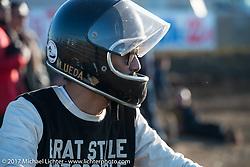 Brat Style's flat track racing at West Point Offroad Village. Kawagoe, Saitama. Japan. Wednesday December 6, 2017. Photography ©2017 Michael Lichter.