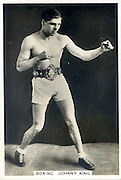 Amazing images of Britain's best boxers from the 1920's<br /> <br /> From the 1920s up until World War 2 cigarette companies, sporting magazines and boys' weeklies included real photo cards of sports stars to collect and swap. These photos of British boxers come from magazines like The Champion, The Magnet and Boy's Friend and cigarette companies such as Senior Service and Ogdens.<br /> <br /> Photo shows: Johnny King: Typically for the 1920s, Johnny King had over 200 bouts, winning British titles in the bantamweight division but fighting as a flyweight and featherweight as well. He won the Lonsdale Belt twice and became Empire Champion in 1933.<br /> ©One mans treasure/Exclusivepix Media