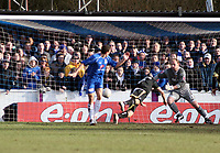 Photo: Mark Stephenson.<br /> Chasetown v Cardiff City. FA Cup Third Round. 05/01/2008.<br /> Chasetown go 1-0 up as Cardiff score a own goal