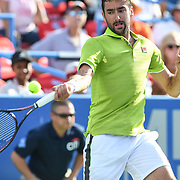 MARIN CILIC hits a forehand at the Rock Creek Tennis Center.