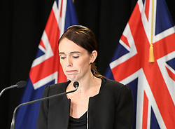 March 16, 2019 - Wellington, New Zealand - New Zealand Prime Minister JACINDA ARDERN REACTS during a briefing in Wellington, capital of New Zealand. Jacinda Ardern reiterated to the public on Saturday morning that the country's gun law will be changed. Gunmen opened fire in two separate mosques in Christchurch on Friday, killing 49 people and wounding 48 others. (Credit Image: © Xinhua via ZUMA Wire)