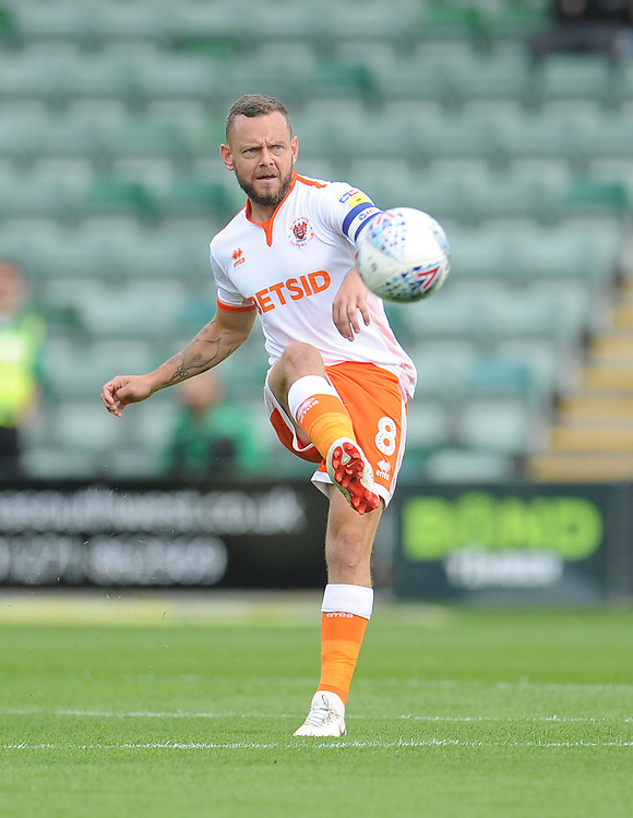 Blackpool's Jay Spearing<br /> <br /> Photographer Kevin Barnes/CameraSport<br /> <br /> The EFL Sky Bet League One - Plymouth Argyle v Blackpool - Saturday 15th September 2018 - Home Park - Plymouth<br /> <br /> World Copyright © 2018 CameraSport. All rights reserved. 43 Linden Ave. Countesthorpe. Leicester. England. LE8 5PG - Tel: +44 (0) 116 277 4147 - admin@camerasport.com - www.camerasport.com