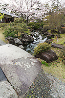 Shiosai Teien is a traditional Chisen Kaiyu Shiki Japanese strolling pond garden with teahouses overlooking the pond.  Within the grounds, altogether called Shiosai Park or Shiosai Koen there is a museum displaying Emperor Showa's collection of marine life specimens from Sagami Bay.