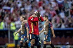 July 1, 2018 - Moscow, Russia - FIFA World Cup 2018. Russia defeated Spain.  Sergio Ramos deppar efter förlusten. Fotbolls-VM, match 51, Spanien - Ryssland, Luzhniki stadium, Moscow, Russia  (Credit Image: © Orre Pontus/Aftonbladet/IBL via ZUMA Wire)