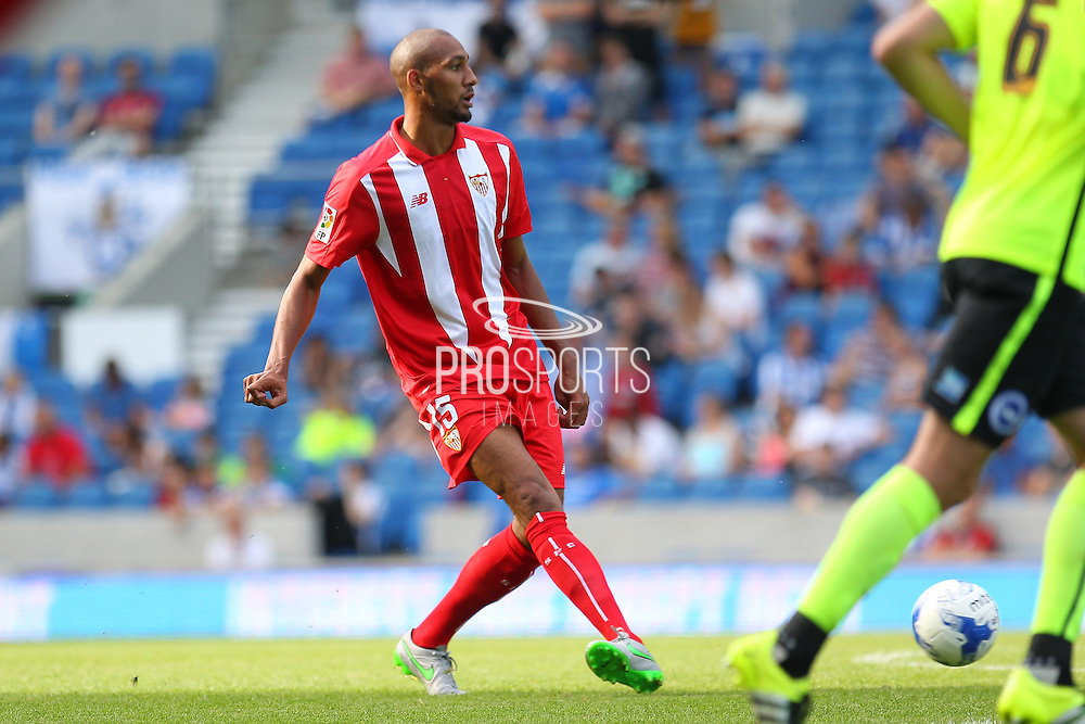 Steven N'Zonzi of Sevilla during the Pre-Season Friendly match between Brighton and Hove Albion and Sevilla at the American Express Community Stadium, Brighton and Hove, England on 2 August 2015. Photo by Phil Duncan.