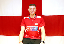 Team England's Max Litchfield poses for a photo during the kitting out session at Kukri Sports HQ, Preston.