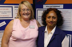 Voluntary workers at an Age Concern show,