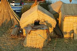 Uros Hut On Floating Island