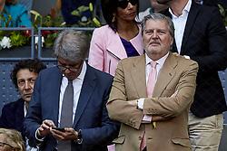May 13, 2018 - Madrid, Madrid, Spain - Spanish Minister of Education and Sports Inigo Mendez de Vigo attends day nine of the Mutua Madrid Open tennis tournament at the Caja Magica on May 13, 2018 in Madrid, Spain  (Credit Image: © David Aliaga/NurPhoto via ZUMA Press)