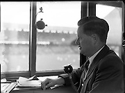 O'Hehir, Michael, R Eireann Commentator at Croke Park.17/08/1952