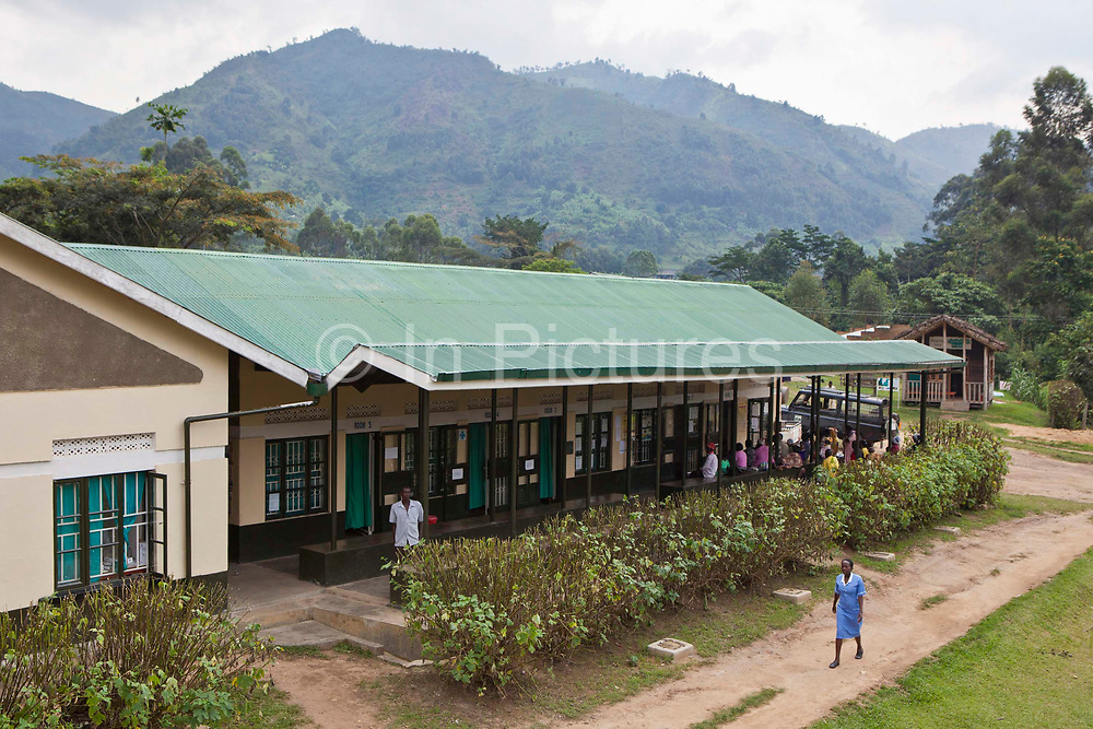 The Bwindi Community Hospital in Buhoma village on the edge of the Bwindi Impenetrable Forest in Western Uganda. It serves around 60 000 people from the surrounding area.