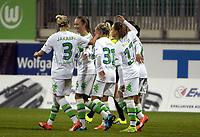 BILDET INNGÅR IKKE I FASTAVTALER. ALL NEDLASTING BLIR FAKTURERT.<br /> <br /> Fotball<br /> Tyskland<br /> Foto: imago/Digitalsport<br /> NORWAY ONLY<br /> <br /> 14.10.2015<br /> Fußball, UWCL, VfL Wolfsburg - ZFK Spartak Subotica; Caroline Graham Hansen (Wolfsburg, 26) Jubel