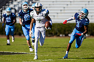 Dutch Fork Silver Foxes wide receiver Jalin Hyatt (7) makes a long reception against the Dorman Cavaliers in the Class AAAAA State Championship Game at Williams-Brice Stadium in Columbia, SC. Dutch Fork wins their 4th straight state championship at Williams Brice Stadium. Photos ©JeffBlakePhoto.com