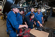 UPS mechanics learn on the job at the UPS facility on August 31, 2011 in Addison, Illinois. (For UPS)
