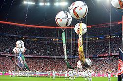 14.08.2015, Allianz Arena, Muenchen, GER, 1. FBL, FC Bayern Muenchen vs Hamburger SV, 1. Runde, im Bild Eroeffnung der Saison 2015/2016 // during the German Bundesliga 1st round match between FC Bayern Munich and Hamburger SV at the Allianz Arena in Muenchen, Germany on 2015/08/14. EXPA Pictures © 2015, PhotoCredit: EXPA/ Eibner-Pressefoto/ Stuetzle<br /> <br /> *****ATTENTION - OUT of GER*****